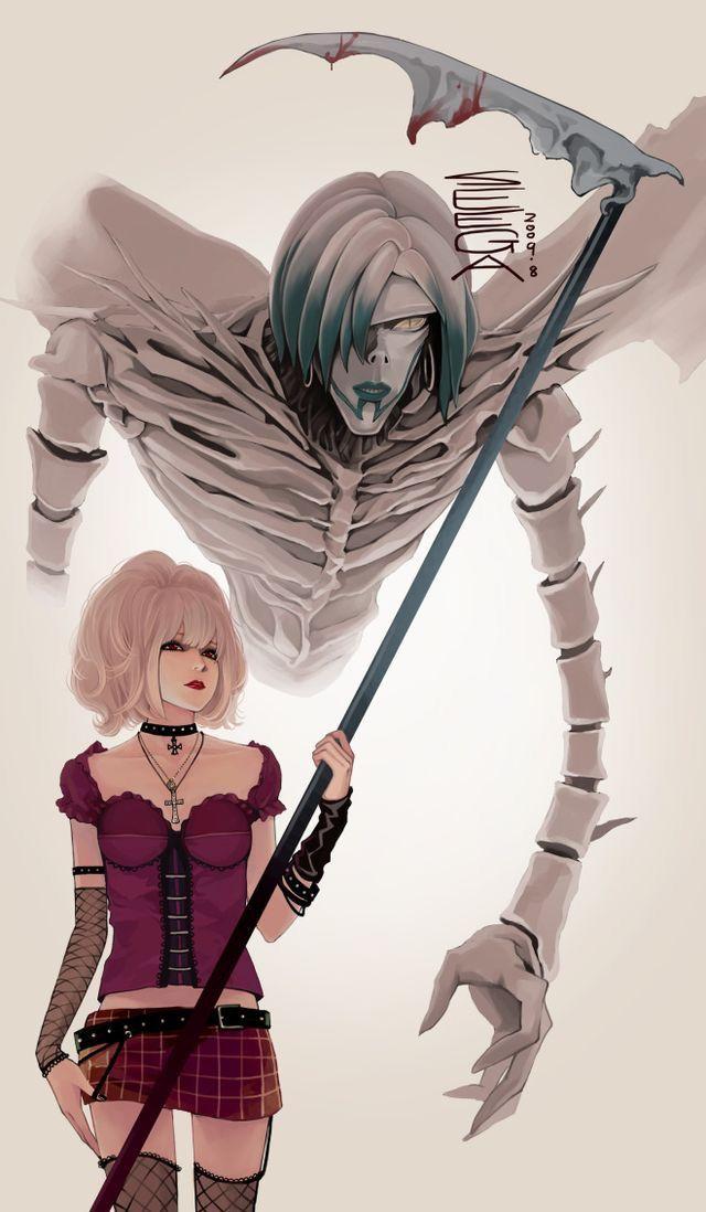 Арты с аниме тетрадь смерти 014