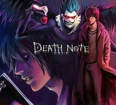 Арты с аниме тетрадь смерти 016