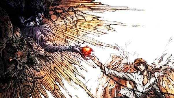 Арты с аниме тетрадь смерти 017