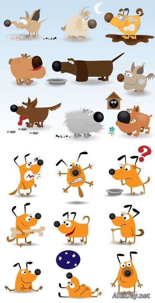 Забавные рисунки собак 001