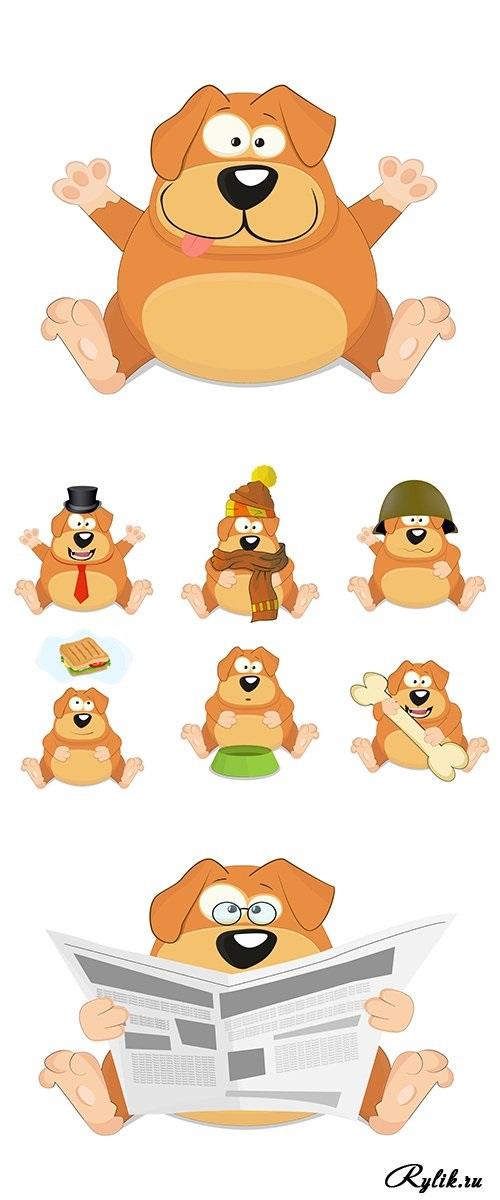 Забавные рисунки собак 007