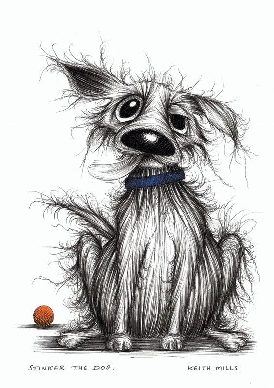 Забавные рисунки собак 008