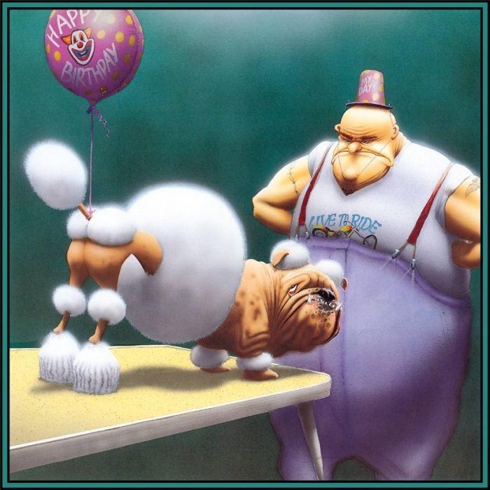 Забавные рисунки собак 009