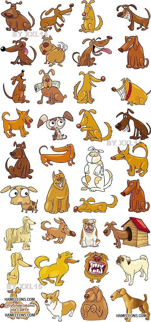 Забавные рисунки собак 012