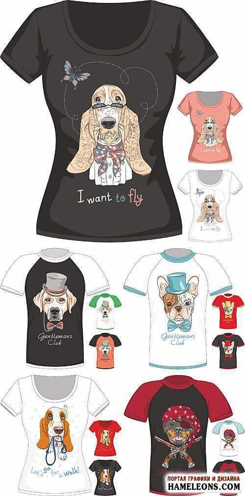 Забавные рисунки собак 016