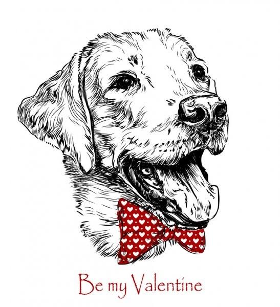 Забавные рисунки собак 019