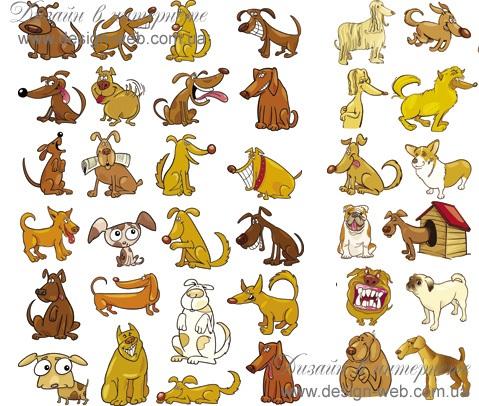 Забавные рисунки собак 021
