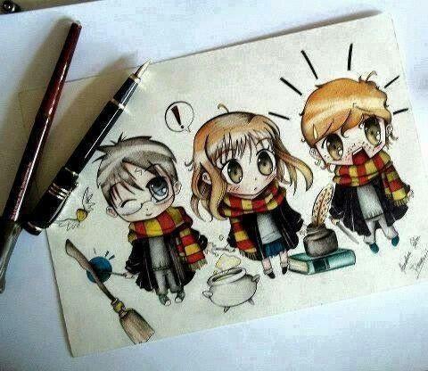 Картинки рисунки гарри поттер и рон 009