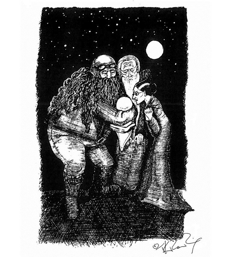 Картинки рисунки гарри поттер и рон 019
