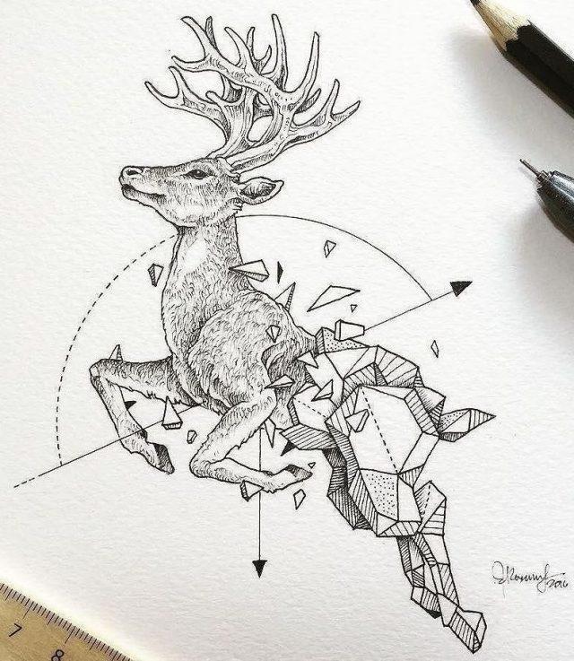 Красивые геометрические рисунки ручкой 001