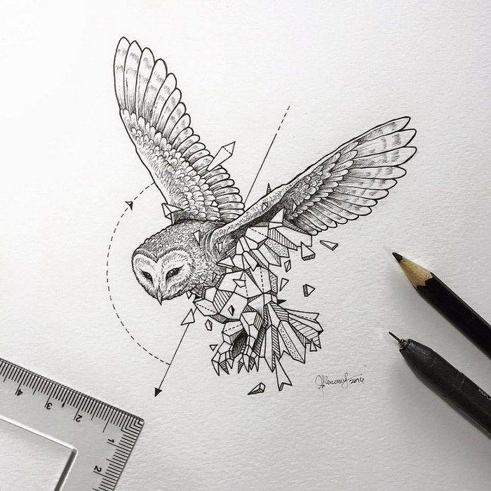 Красивые геометрические рисунки ручкой 008