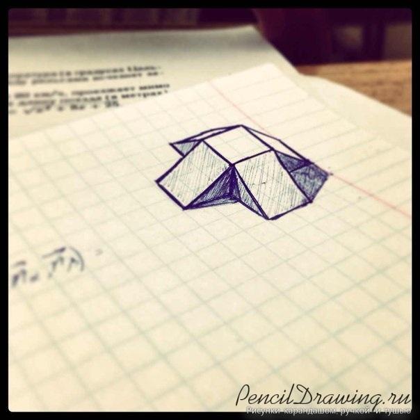Красивые геометрические рисунки ручкой 010