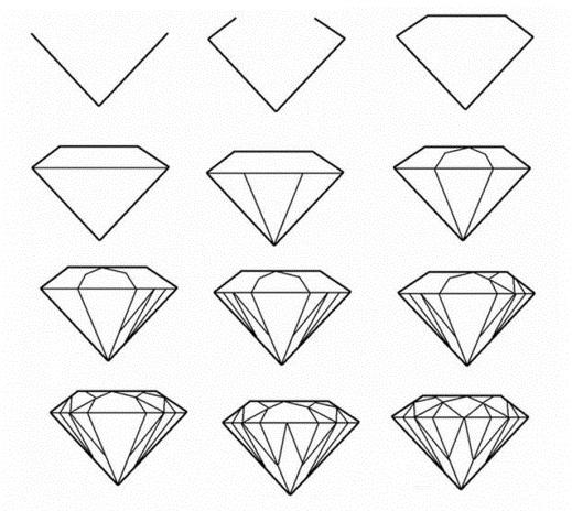 Красивые геометрические рисунки ручкой 014