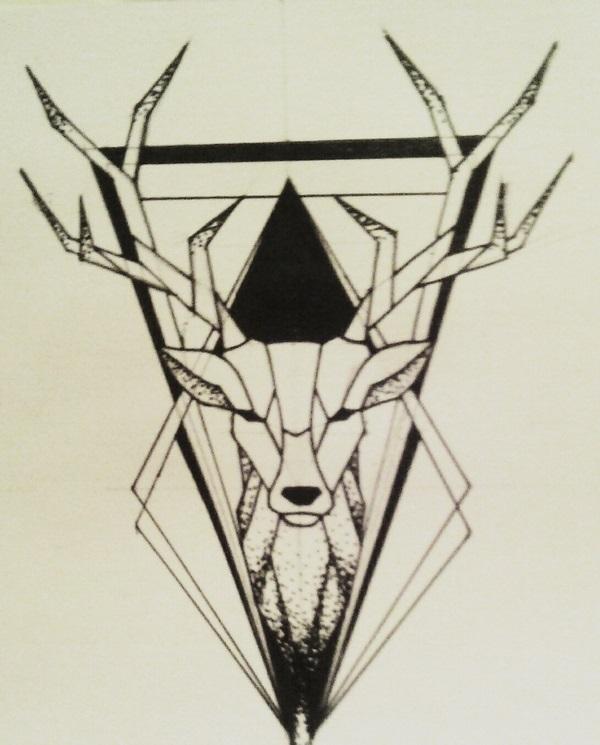 Красивые геометрические рисунки ручкой 016