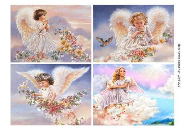Красивые картинки для декупажа ангелы 016