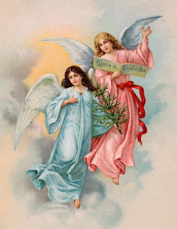 Красивые картинки для декупажа ангелы 020