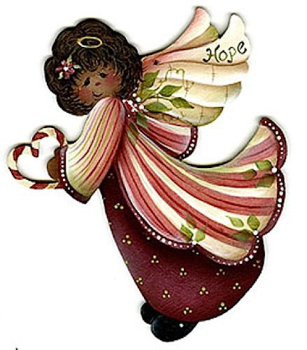 Красивые новогодние ангелочки картинки 001