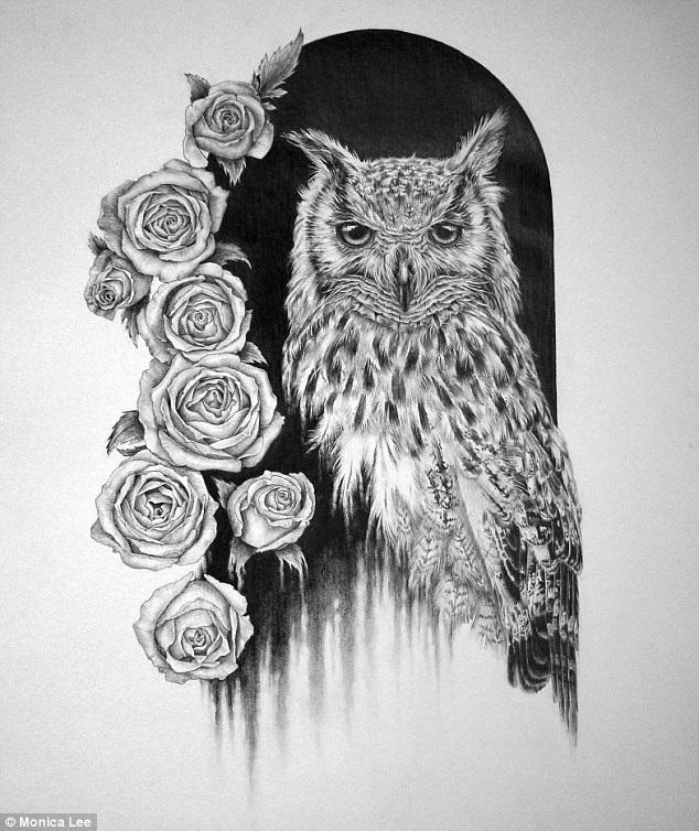 Красивые рисунки карандашом совы 029