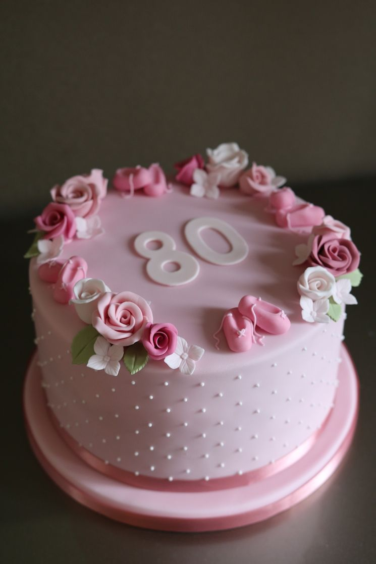 Красивый и вкусный торт на юбилей женщине 80 лет фото 004