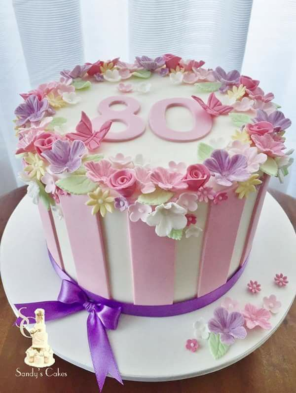 Красивый и вкусный торт на юбилей женщине 80 лет фото 030