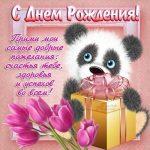 Милые открытки с животными с днем рождения женщине