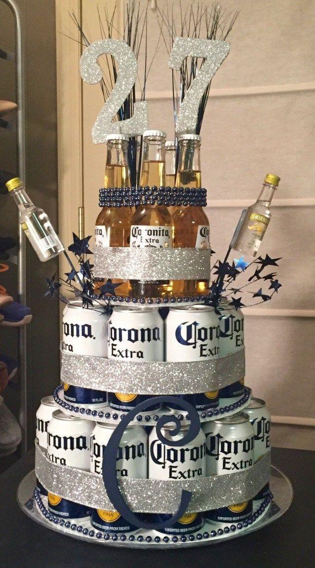 Прикольный торт из пива на день рождение для мужа 001