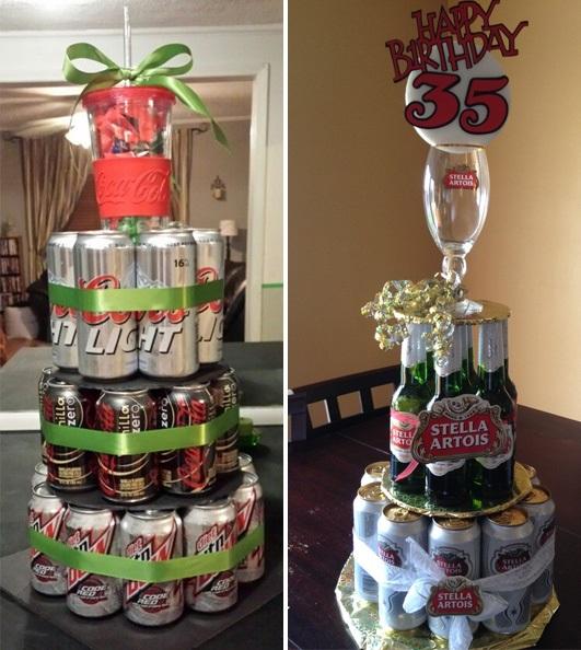 Прикольный торт из пива на день рождение для мужа 002