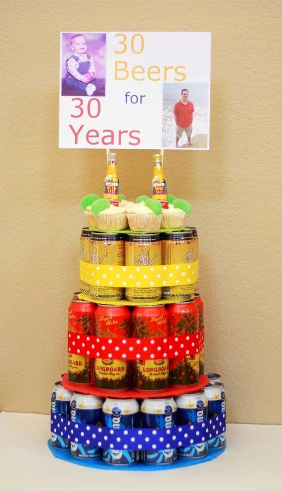 Прикольный торт из пива на день рождение для мужа 011
