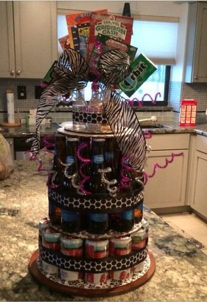 Прикольный торт из пива на день рождение для мужа 023