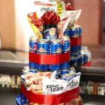 Прикольный торт из пива на день рождение для мужа