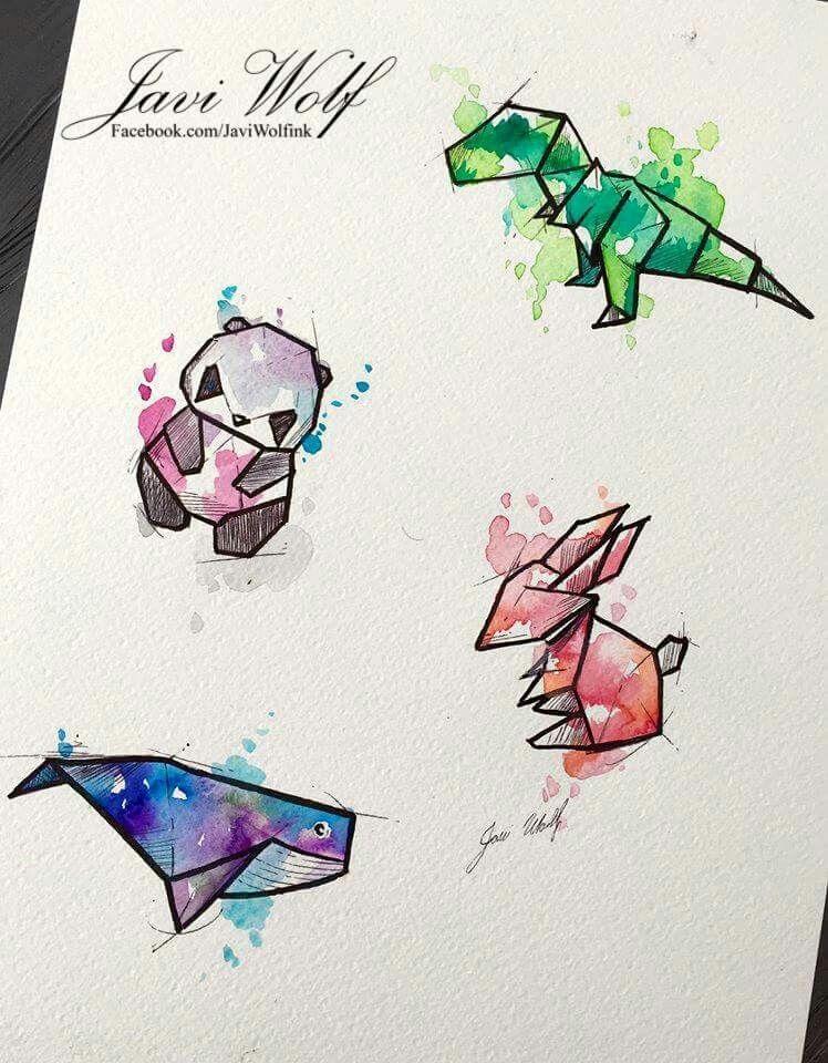 Рисунки акварелью арт 001