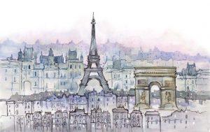 Рисунки акварелью арт 028