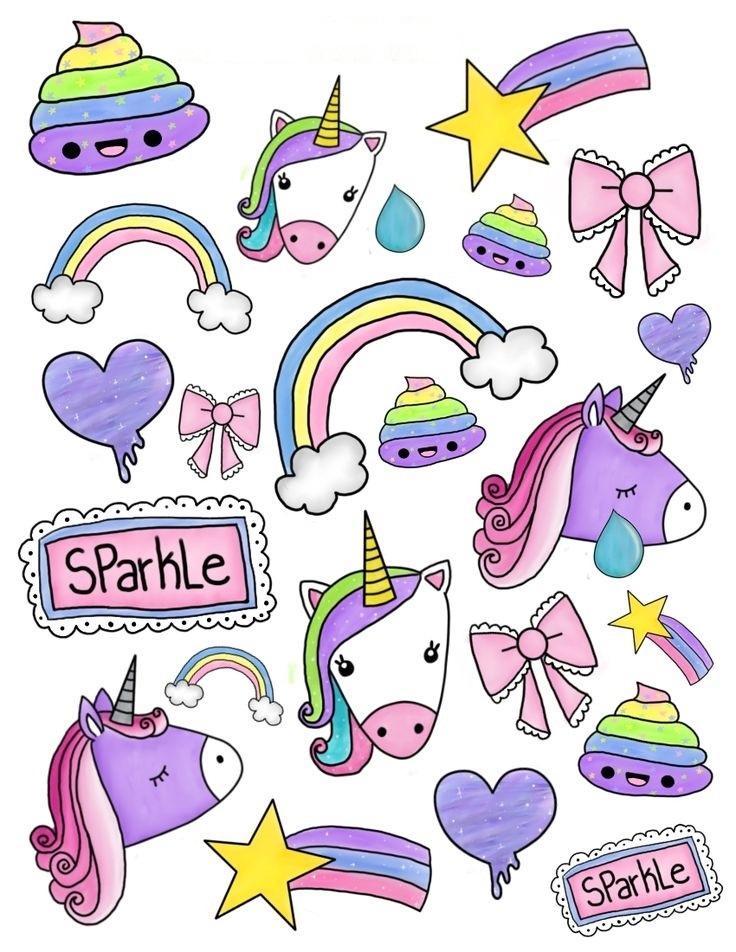 Рисунки для наклеек своими руками для девочек 003
