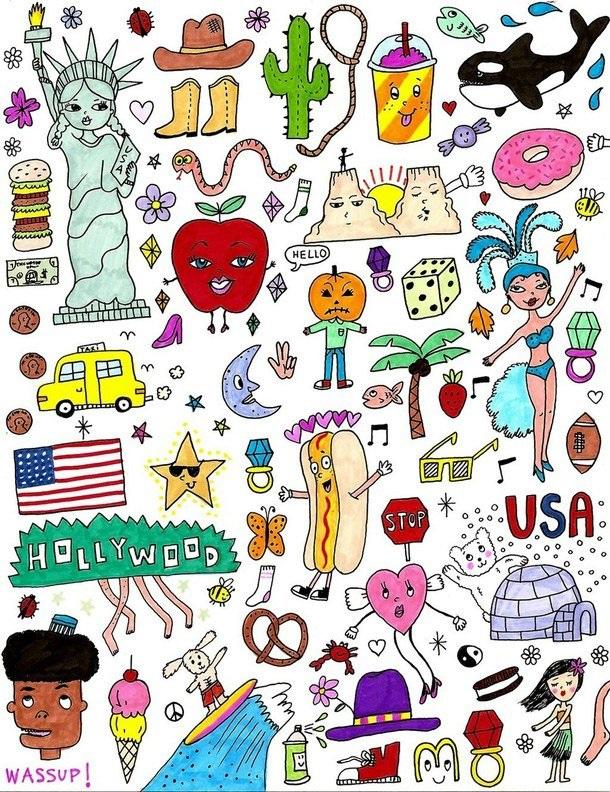 Рисунки для наклеек своими руками для девочек 016