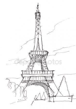 Рисунки карандашом франция 001