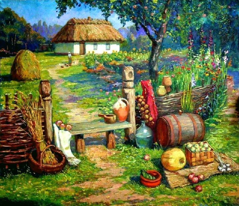 Украинская хата картинки рисунки 001