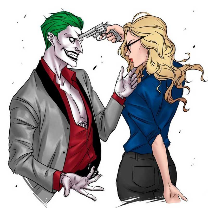Харли и Джокер рисунки крутые 001
