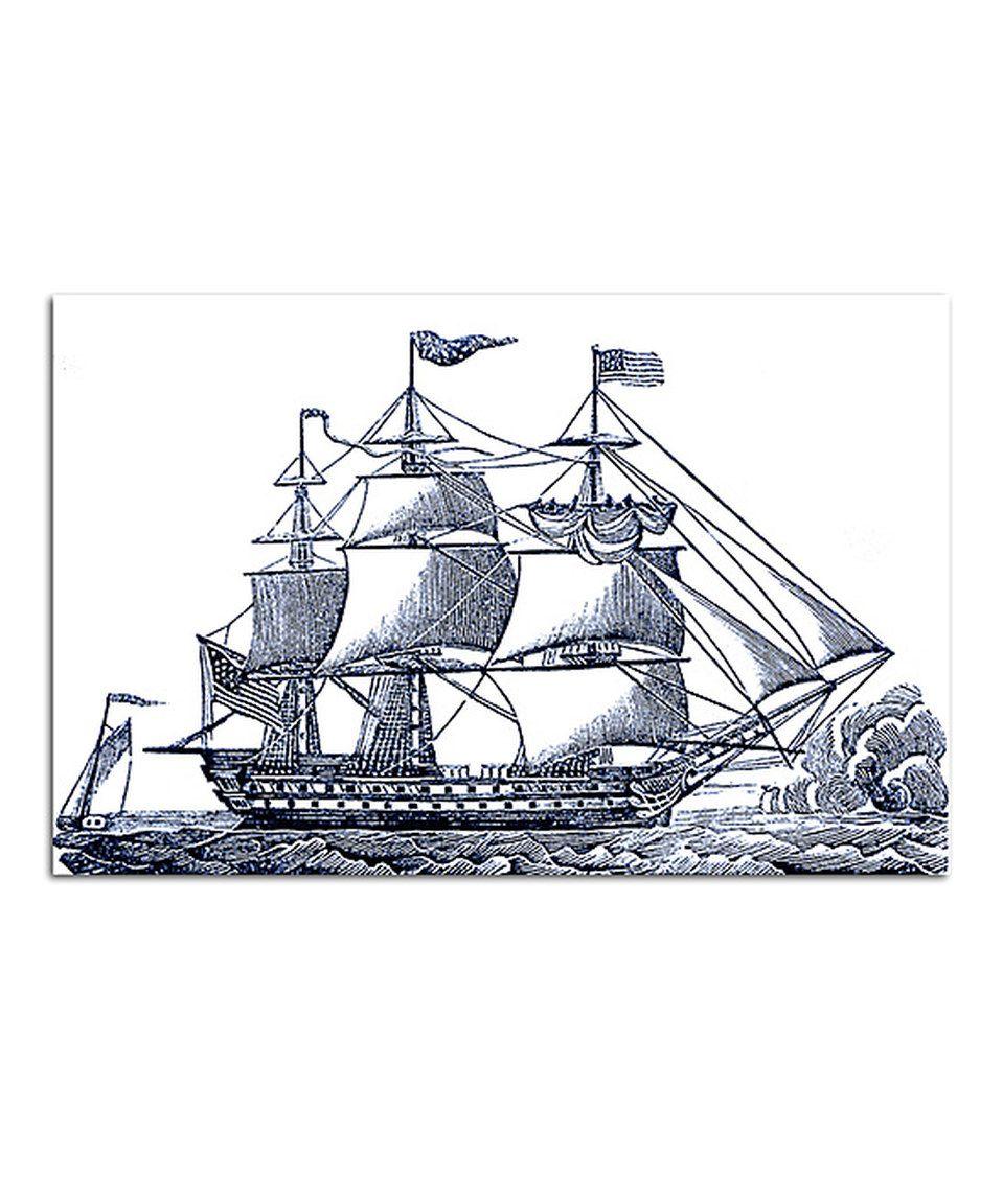 Черно белый рисунок кораблика 013