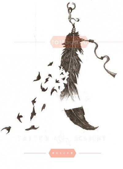 Эскизы тату маленькие птицы 006