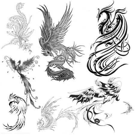 Эскизы тату маленькие птицы 015