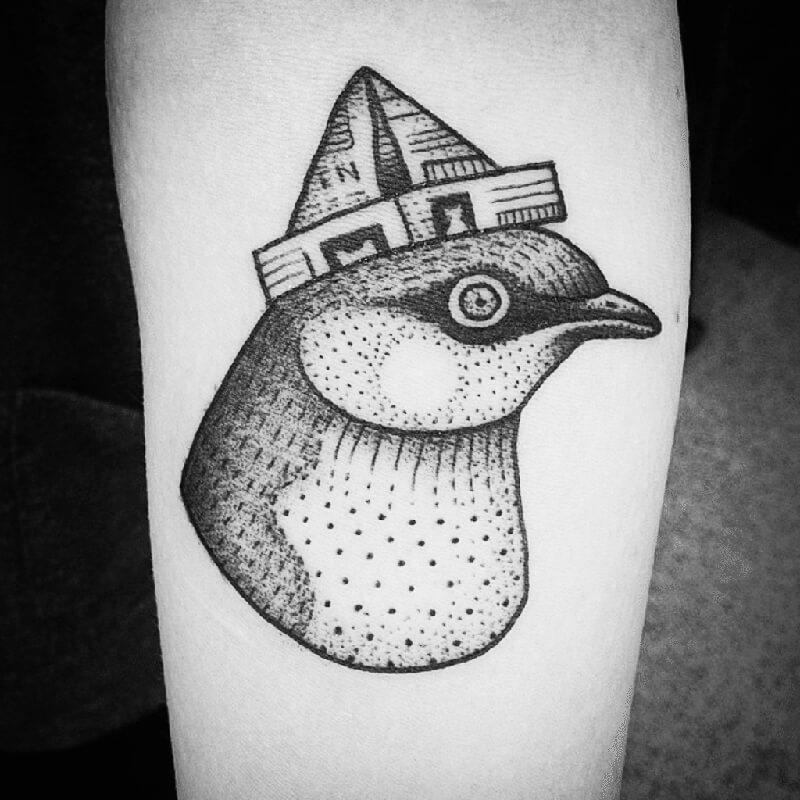 Эскизы тату маленькие птицы 016
