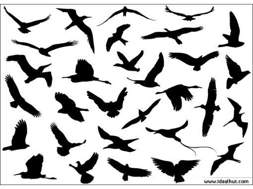 Эскизы тату маленькие птицы 024