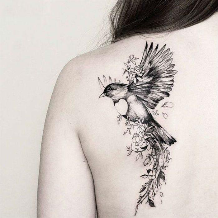 Эскизы тату маленькие птицы 025