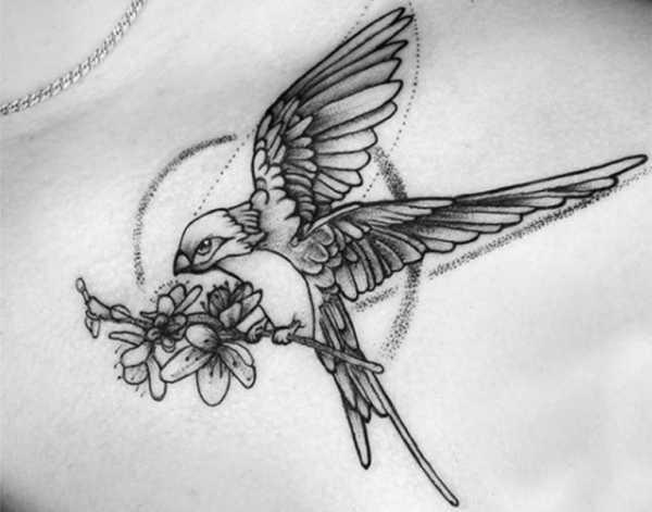 Эскизы тату маленькие птицы 027