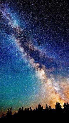Звездное небо обои на айфон 6 001