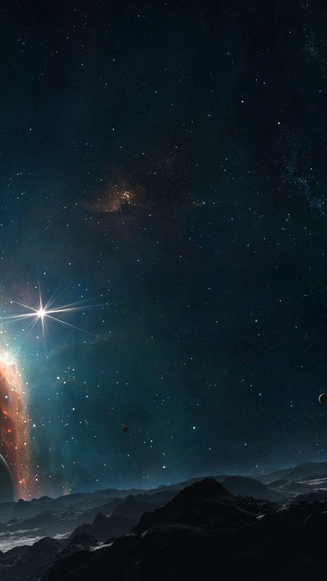 Звездное небо обои на айфон 6 006