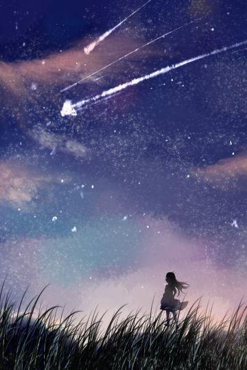 Звездное небо обои на айфон 6 013