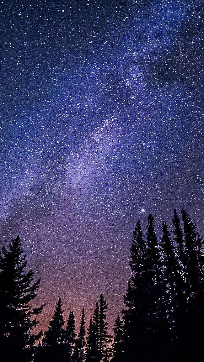 Звездное небо обои на айфон 6 014