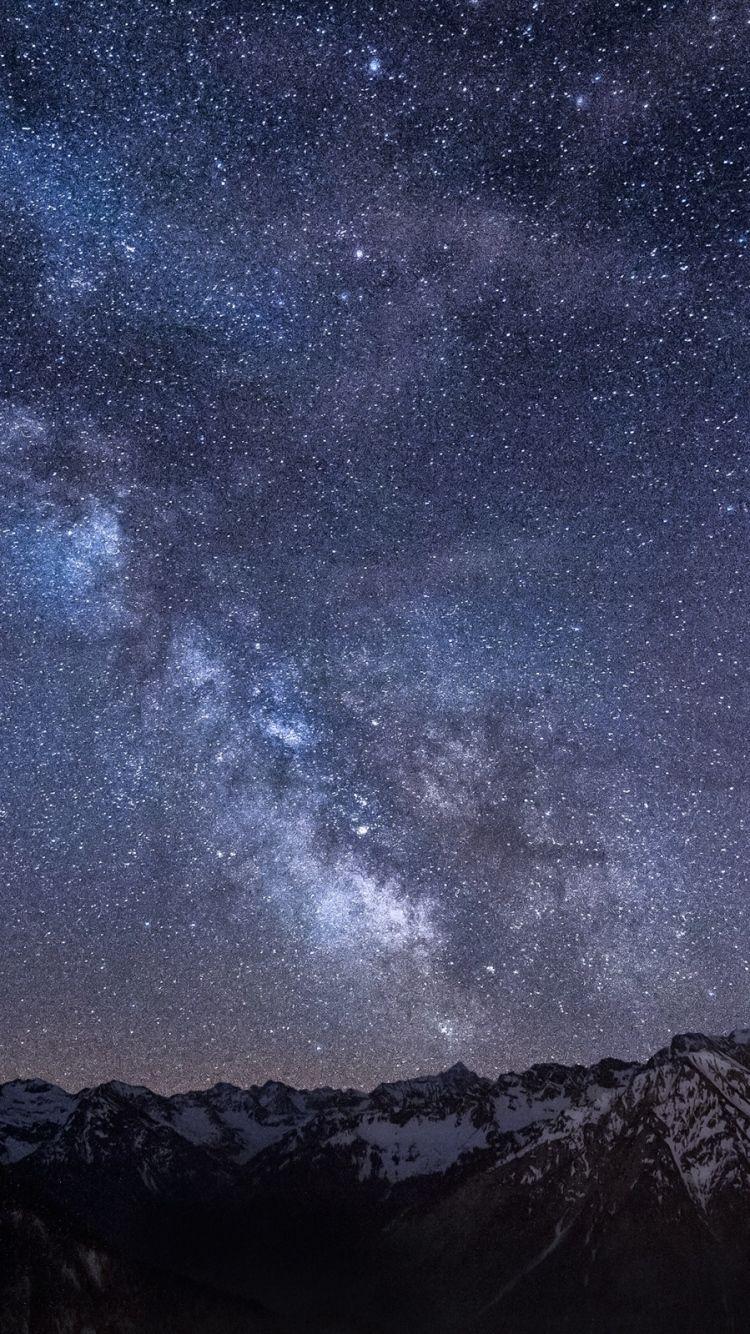 Звездное небо обои на айфон 6 016