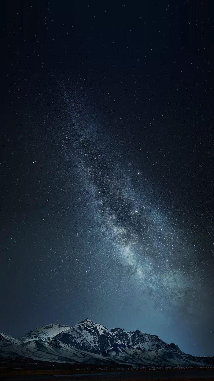 Звездное небо обои на айфон 6 019